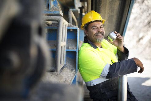 Quarry worker taking a break - ZEF13782
