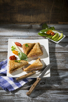 Whole meal sandwich with ham and cheese - MAEF12216