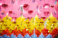 South Korea, Gyeongju, Colorful lanterns to celebrate Buddha's Birthday in Bulguksa Temple - GEMF01645