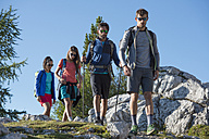 Italy, Friends trekking in the Dolomtes - ZOCF00459