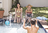 Friends having fun in swimming pool - WESTF23213