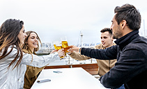 Group of friends toasting with beer - MGOF03423