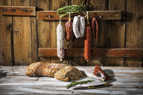 Various sorts of salami and hard smoked sausages - MAEF12224