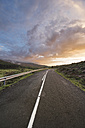 Spain, La Rioja, senic sunset at a mountain road - DHCF00077