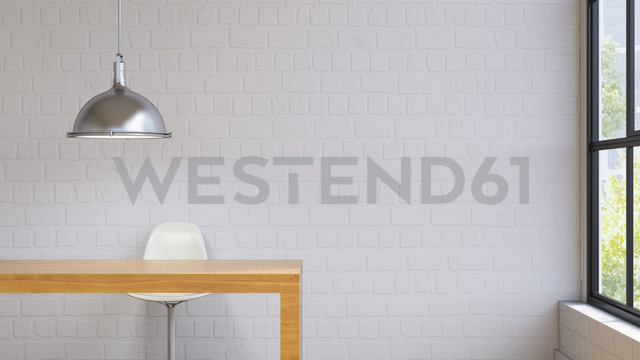 Room with lamp, table and chair, 3d rendering - UWF01226 - HuberStarke/Westend61