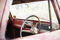 Interior of an old pick up - ZEF13877