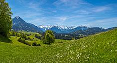 Germany, Bavaria, view from Malerwinkel near Altstaedten towards Illertal - WGF01090