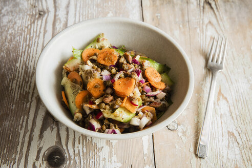 Lentil salad with carrot, cucumber and red radish - EVGF03231