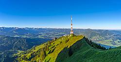 Germany, Bavaria, Allgaeu, Gruenten, radio tower on summit - WGF01093
