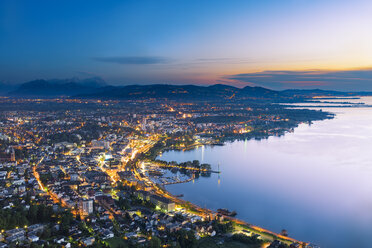 Austria, Bregenz and Lake Constance at sunset - MKFF00336