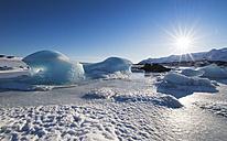 Iceland, frozen landscape in a glacier - RAEF01894