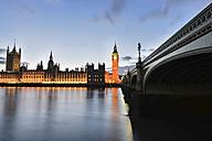 UK, London, Big Ben and London Bridge - STCF00328