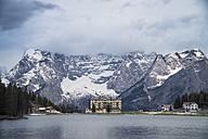 Italy, Alto Adige, Dolomites, Hotel at the  Lago di Misurina - STCF00331
