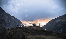 Italy, Alto Adige, Dolomites, Abandoned chair lift near Lago di Braies - STCF00343