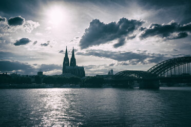 Germany, Cologne, Cologne cathedral in backlight - ELF01839