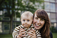 Portrait of happy mother with her baby boy - MFF03651