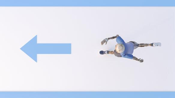 Robot running, 3d rendering - AHUF00381