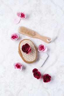 Bath roses, massage sponge, pumice and brush - MYF01938