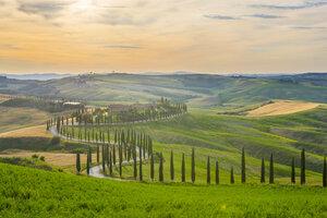 Italy, Tuscany, Val d'Orcia, Baccoleno farmhouse - LOMF00587