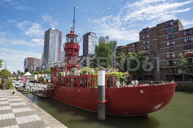 Netherlands, Rotterdam, light ship LV 11 at museum harbor - EL01854