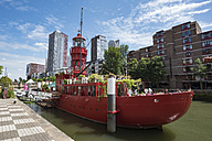 Netherlands, Rotterdam, light ship LV 11 at museum harbor - EL01854