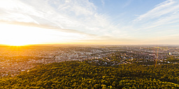 Germany, cityscape of Stuttgart at sunset - WDF04039