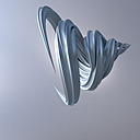 3D Rendering, Energetic swirl on grey background - UWF01236