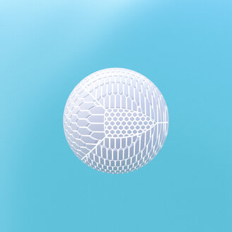 3D Rendering, Sphere shaped from various fragments - UWF01248