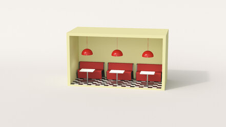 Model of a diner in a box - UWF01254
