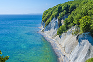Germany, Ruegen, chalk cliff at Jasmund National Park - MHF00420