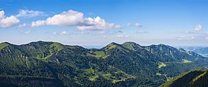 Germany, Bavaria, Nagelfluhkette and Gunzesried Valley as seen from Siplinger Kopf - WGF01097