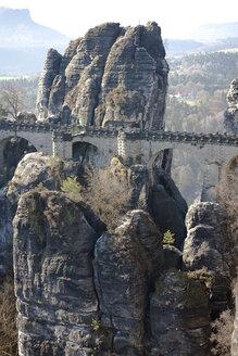 Germany, Saxony, Saxon Switzerland, National Park, Bastei Bridge - ZCF00531