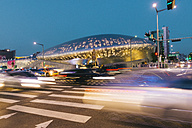 South Korea, Seoul, Dongdaemun Design Plaza by night - GEMF01713