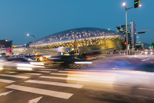 South Korea, Seoul, Dongdaemun Design Plaza by night - GEMF01713