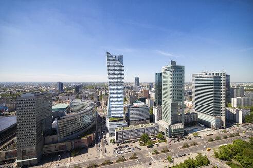 Poland, Warsaw, cityscape, skyscrapers along Emilii Plater street - ABOF00228