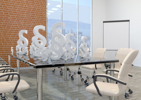 White paragraphs on the table in the business room, 3d illustration - ALF00726