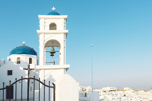 Greece, Santorini, Greek orthodox church of Anastasi in Imerovigli near Fira - GEMF01732