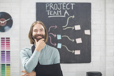Office employee thinking of team project - ZEF14090