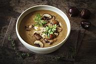 Sweet chestnut mushroom soup - EVGF03246