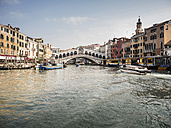Italy, Venice, oiew of Canal Grande and Rialto Bridge - SBDF03256