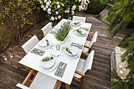 Festive laid table on terrace - WDF04052