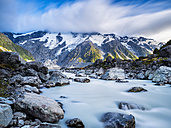 New Zealand, South Island, view to Hooker Valley at Mount Cook National Park - STSF01257