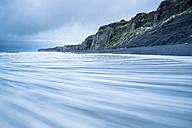 New Zealand, North Island, Taranaki, view to Patea Beach, long exposure - STSF01265