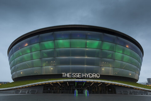 UK, Scotland, Glasgow, illuminated SSE Hydro - FC01261