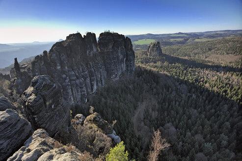 Germany, Saxony, Elbe Sandstone Mountains, Affensteine - ZCF00541