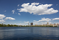 USA, New York City, Skyline with Central Park in spring - MAUF01214