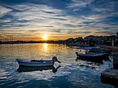Croatia, Dalmatia, Rogoznica, Bay with marina and boats in foreground - AMF05428