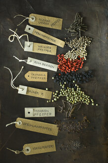 Various sorts of pepper and labelled tags - ASF06098