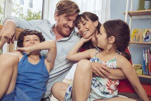 Happy family in children's room - MFF03800