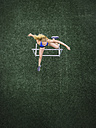 Jumping hurdler, top view - STSF01283